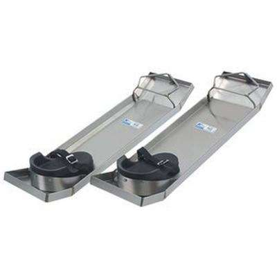 28 in. x 8 in. Lightweight Stainless Steel Knee Boards (Pair)