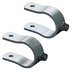 GHOST CONTROLS Universal Tube Bracket Kit for Automatic Gate Openers, Steel (2 Brackets) by GHOST CONTROLS