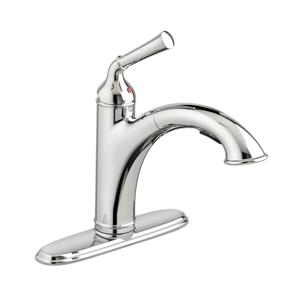 Portsmouth Single-Handle Pull-Out Sprayer Kitchen Faucet in Polished Chrome