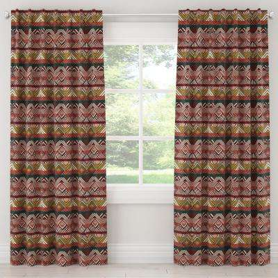 50 in. W x 108 in. L Unlined Curtains in Mercado Weave Multi