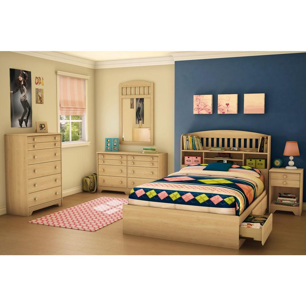 Full Storage Bed Natural Maple Popular
