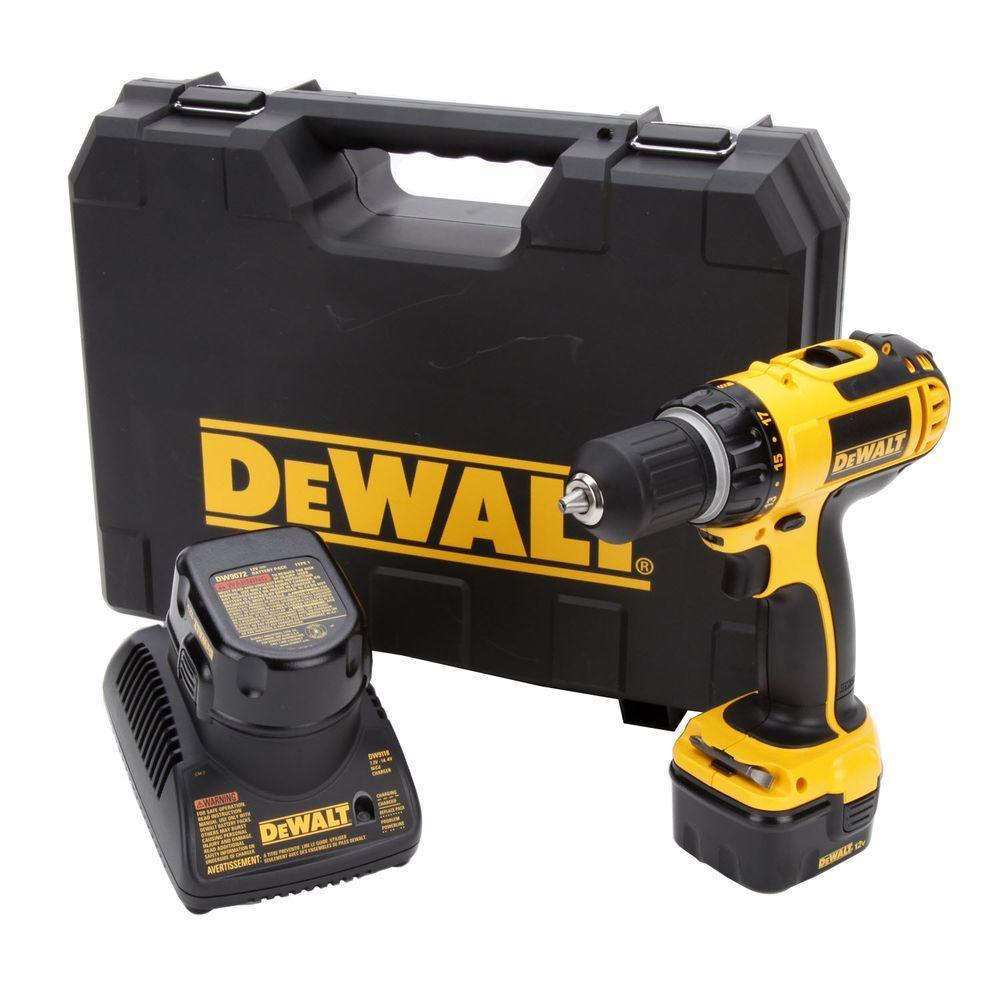 DEWALT 12-Volt Ni-Cad 3/8 in. Cordless Compact Drill Kit