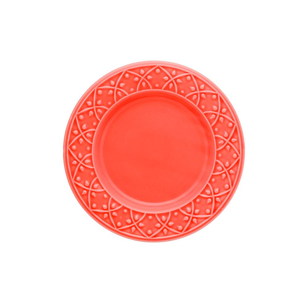 Manhattan Comfort 7.87 in. Mendi Coral Salad Plates (Set of 12), Pink was $139.99 now $72.69 (48.0% off)