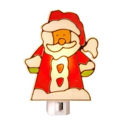 Stained Glass Santa Manual Night Light