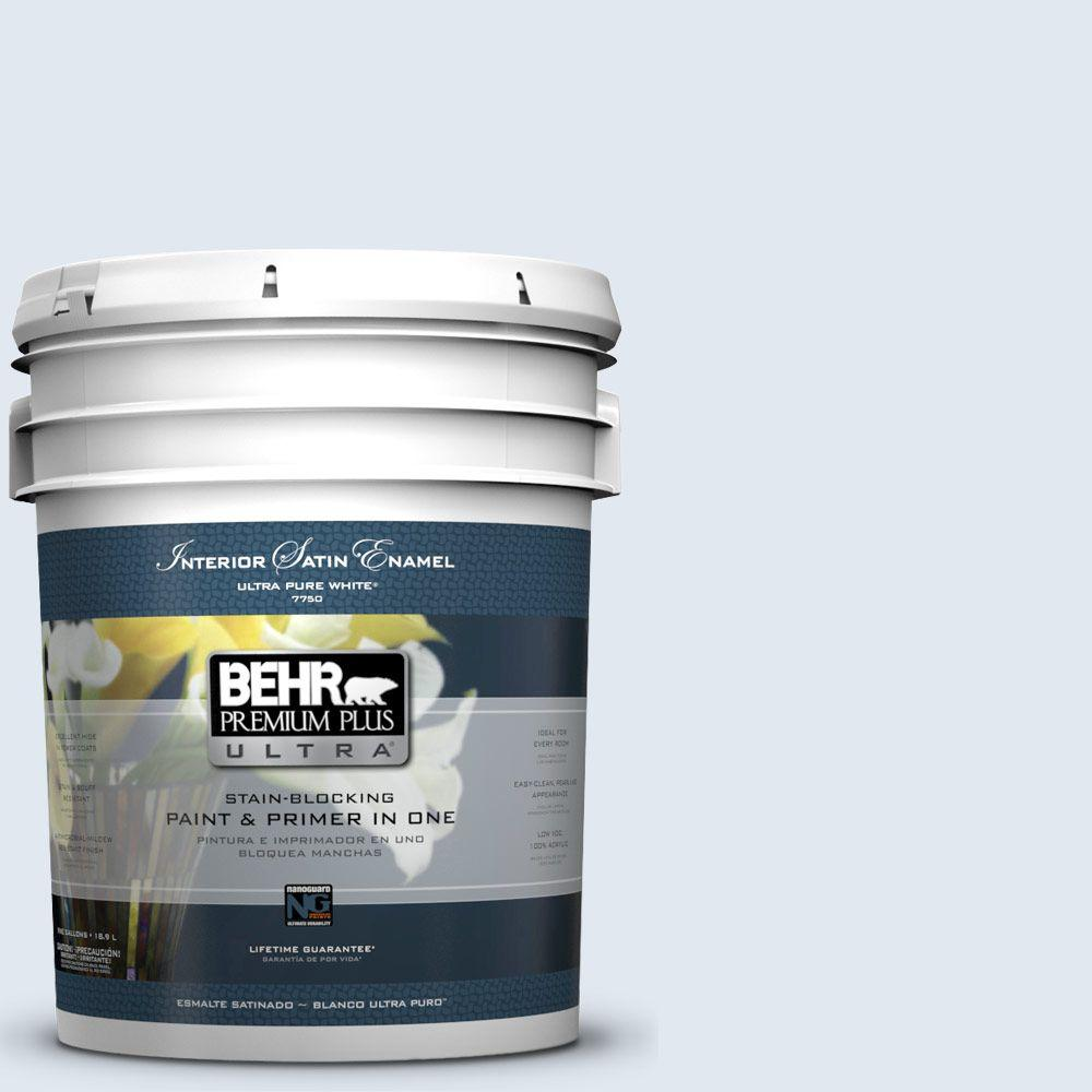 5-gal. #M540-1 Bellflower Blue Satin Enamel Interior Paint