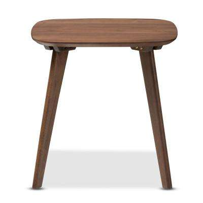 Dahlia Mid-Century Medium Brown Wood Finished End Table