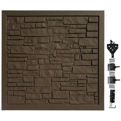 6 ft. W x 6 ft. H EcoStone Dark Brown Composite Privacy Fence Gate