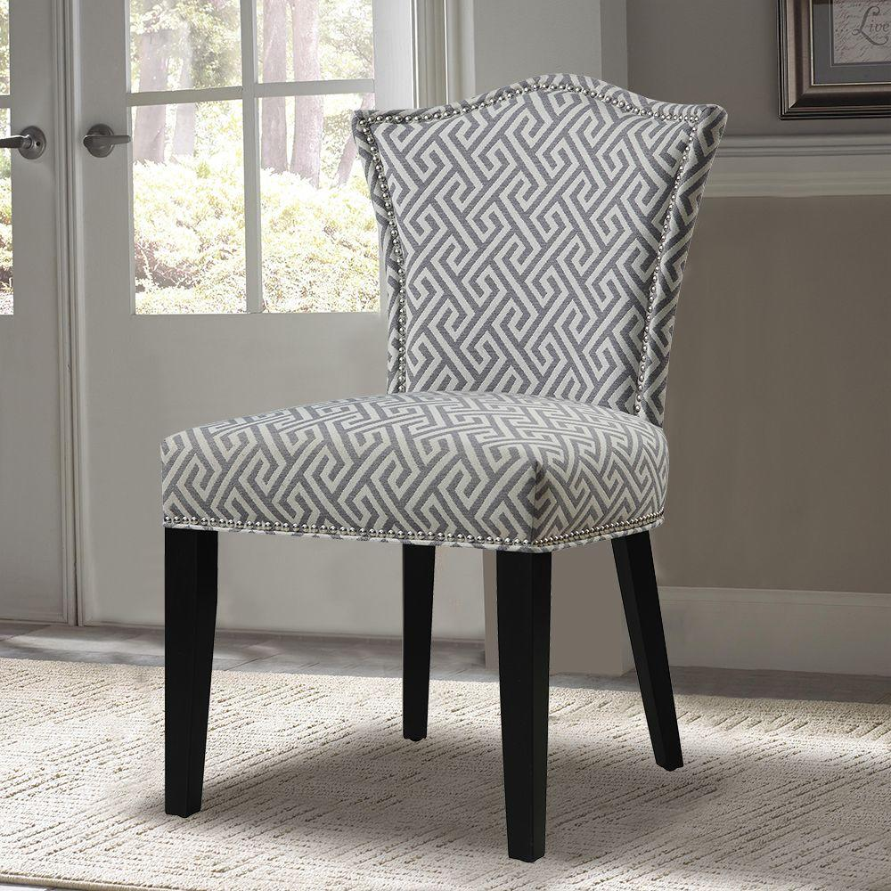 PRI Gray Fabric Side Chair