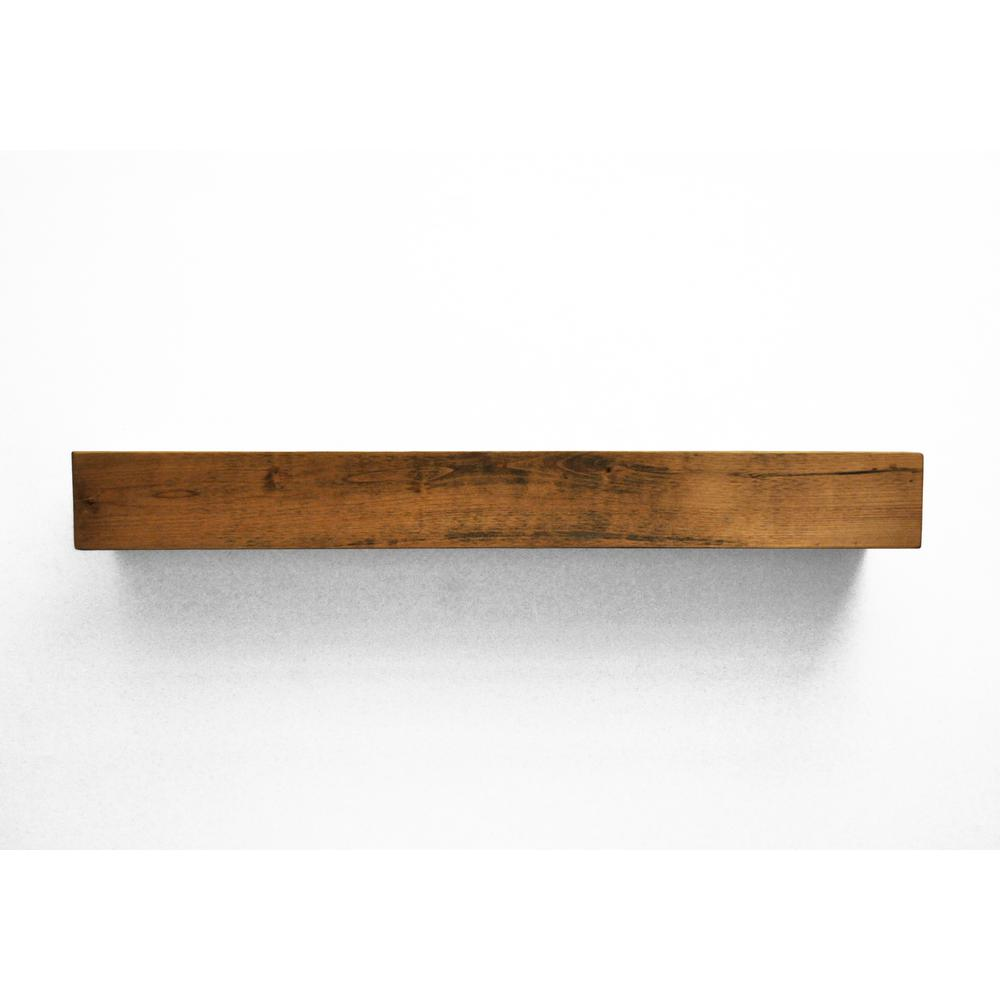 dogberry farmhouse 5 ft aged oak cap shelf mantel m farm. Black Bedroom Furniture Sets. Home Design Ideas