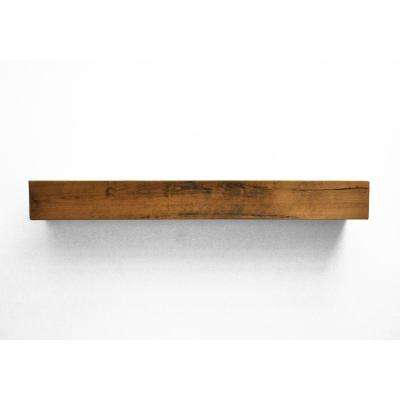 Dogberry Farmhouse 5 ft. Aged Oak Cap-Shelf Mantel