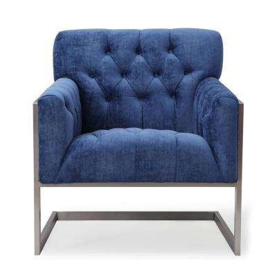 Moya Navy Velvet Chair