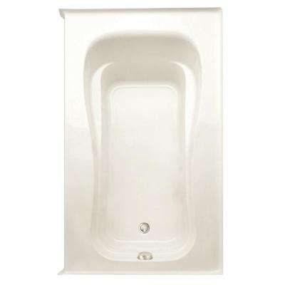 Novelli 60 in. Acrylic Right Drain Rectanglular Alcove Soaking Bathtub in Biscuit