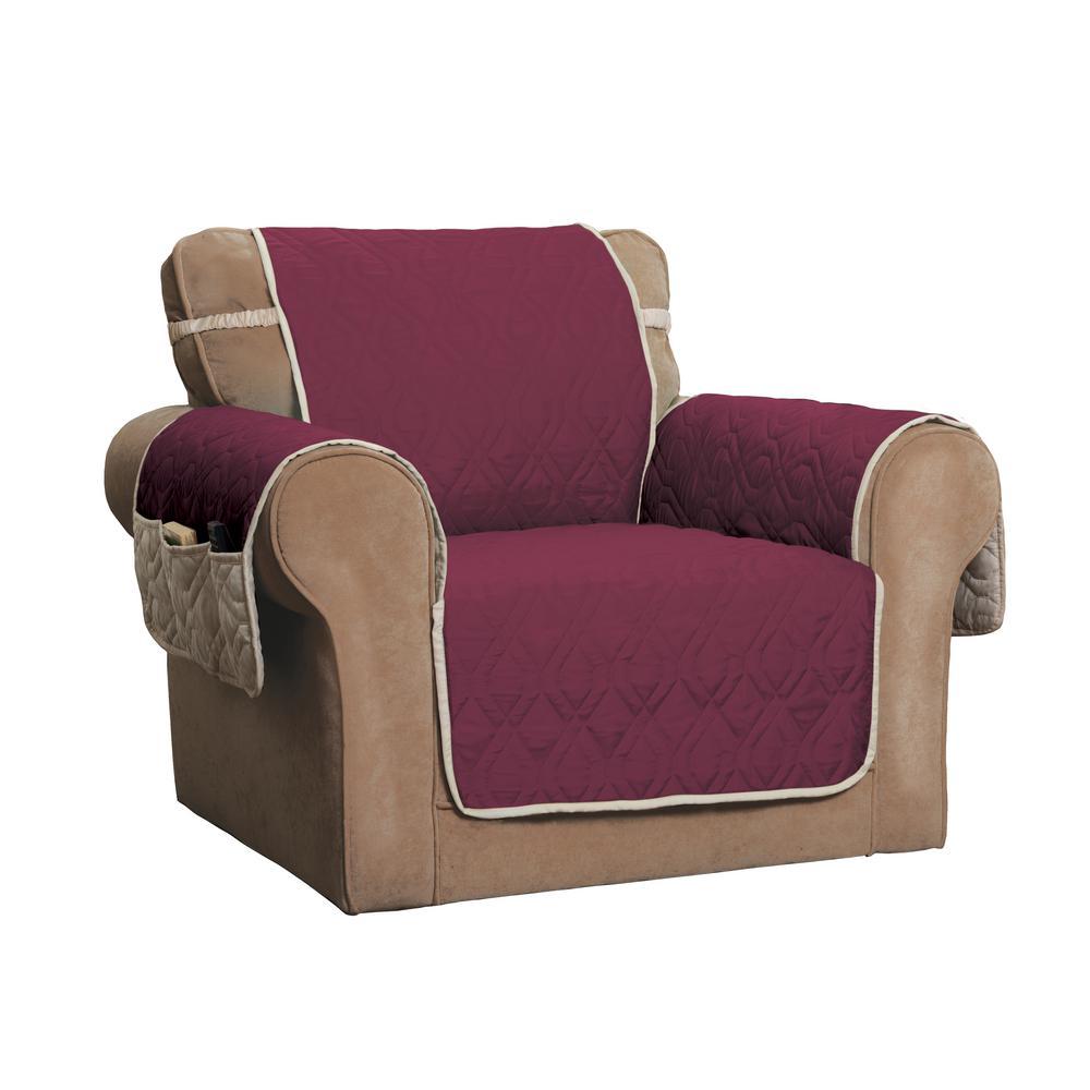 5-Star Burgundy/Ivory Chair Protector