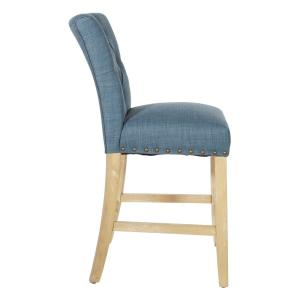Groovy Osp Home Furnishings 24 In Milford Indigo Fabric With Ibusinesslaw Wood Chair Design Ideas Ibusinesslaworg