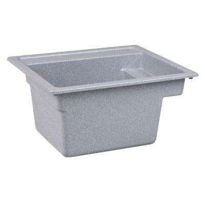 Vector 22 in. x 25 in. Fiberglass Self-Rimming MultiTask Sink in Twilight