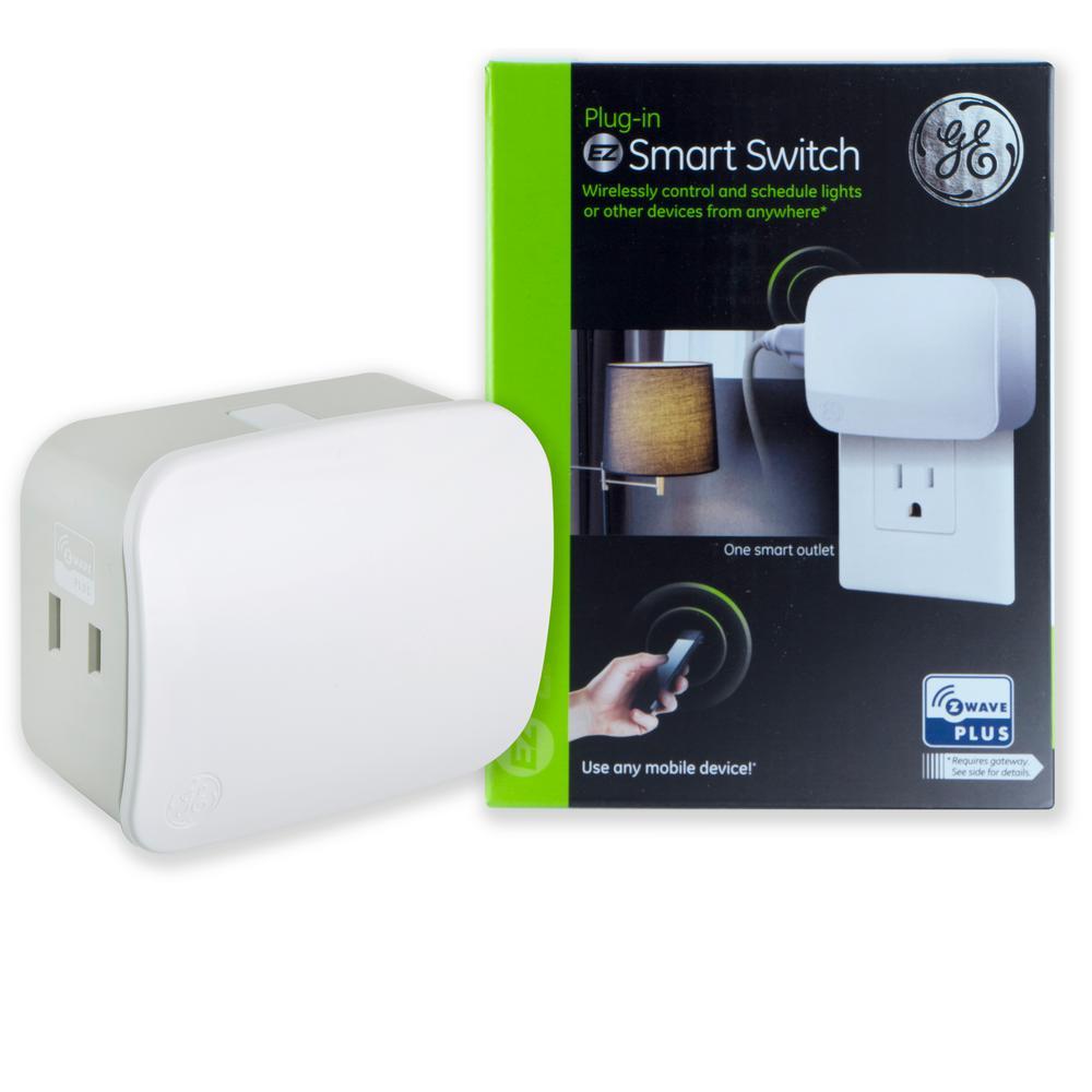 Single Plug Z-Wave Plus Plug-In EZ Smart Switch