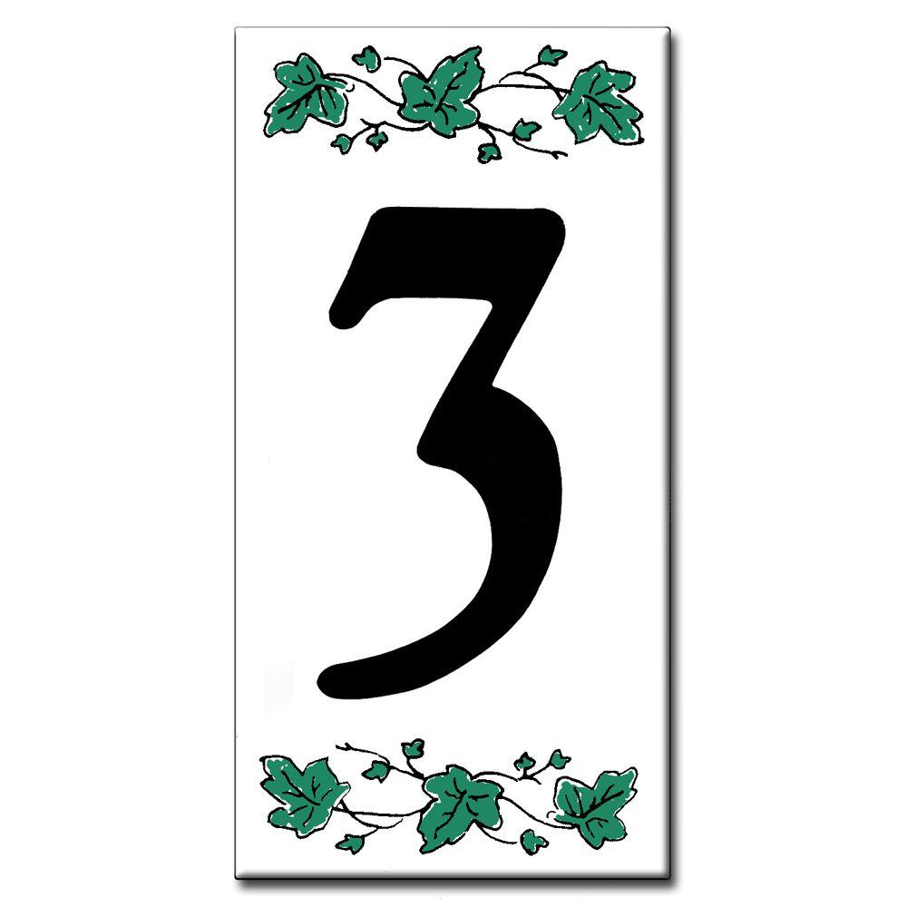 null 3 in. x 6 in. Ivy Number 3