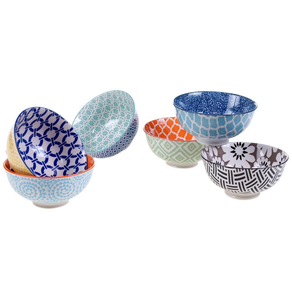 Chelsea Multi-color Bowls (Set of 6)