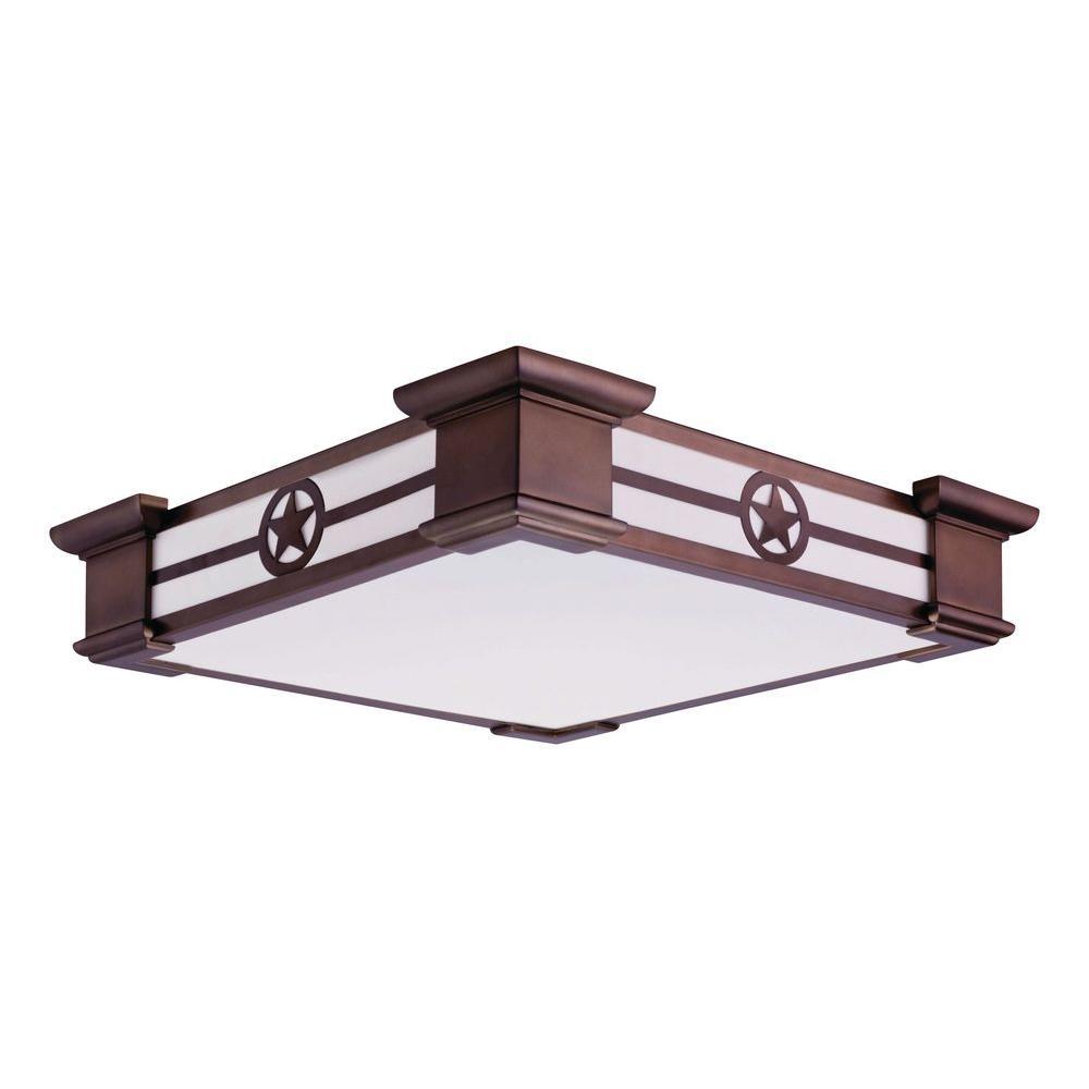 Lithonia lighting ranger 1 light bronze fluorescent ceiling flush mount