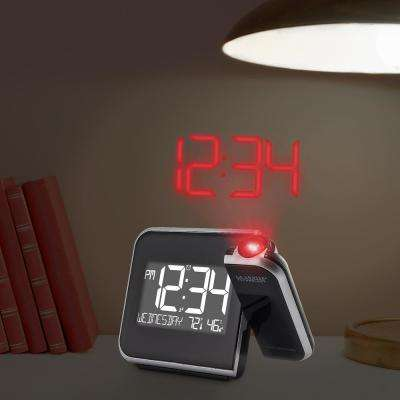 H Projection Alarm Clock With Indoor Temperature