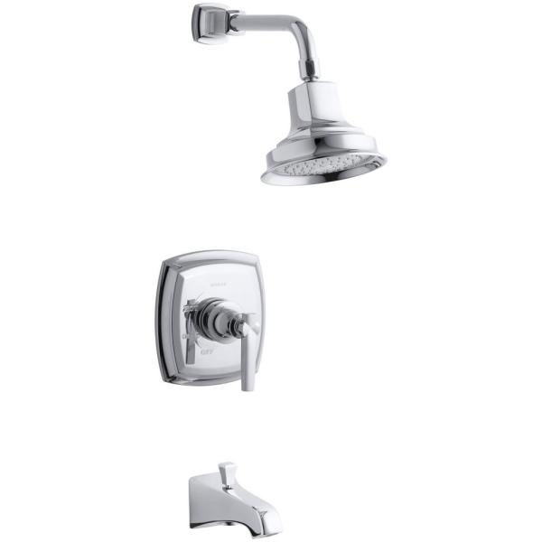 Margaux Single-Handle 1-Spray 2.5 GPM Tub and Shower Faucet with Lever Handle in Polished Chrome