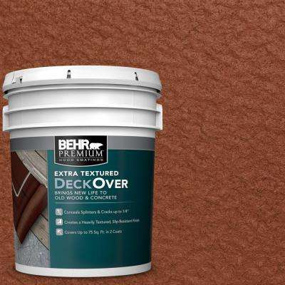 5 gal. #SC-142 Cappuccino Extra Textured Solid Color Exterior Wood and Concrete Coating