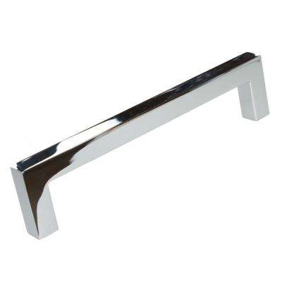 5 in. Solid Square Slim Polished Chrome Cabinet Bar Pull (10-Pack)