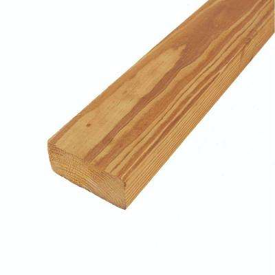 2 in. x 4 in. x 12 ft. #2 Prime Cedar-Tone Pine Pressure-Treated Lumber