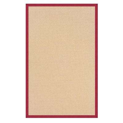 Athena Natural and Red 8 ft. x 11 ft. Area Rug