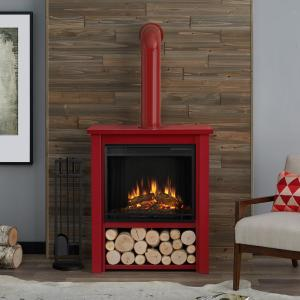 Real Flame Hollis 32 In Freestanding Electric Fireplace