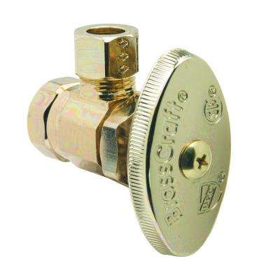 3/8 in. FIP Inlet x 3/8 in. O.D. Comp Outlet Multi-Turn Angle Valve in Polished Brass