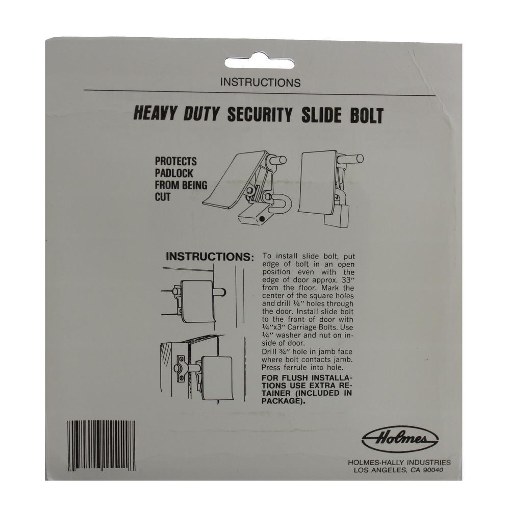E900 Hardware Ssl 1p Garage Door Security Slide Bolt Lock Ssl 1p The Home Depot