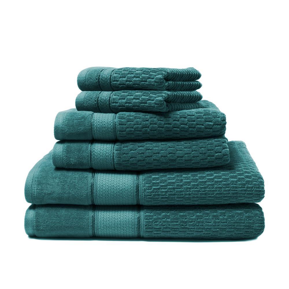 Royale 6-Piece Everglade Solid Turkish Cotton Bath Towel Set