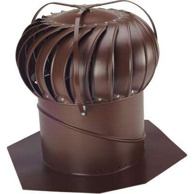 14 in. Brown Aluminum Externally Braced Wind Turbine