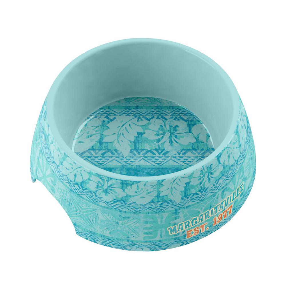Margaritaville Hawaiian Tropic Medium Pet Bowl in Blue