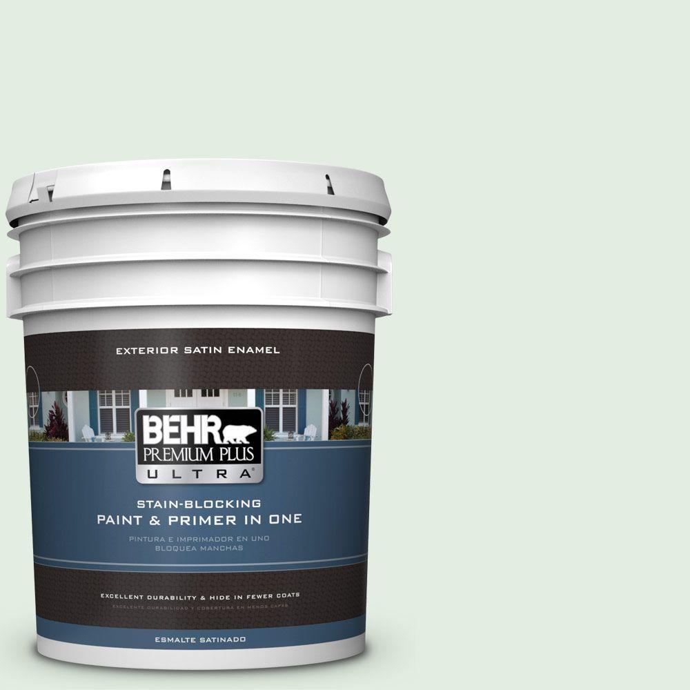 BEHR Premium Plus Ultra 5-gal. #460C-2 Spearmint Stick Satin Enamel Exterior Paint