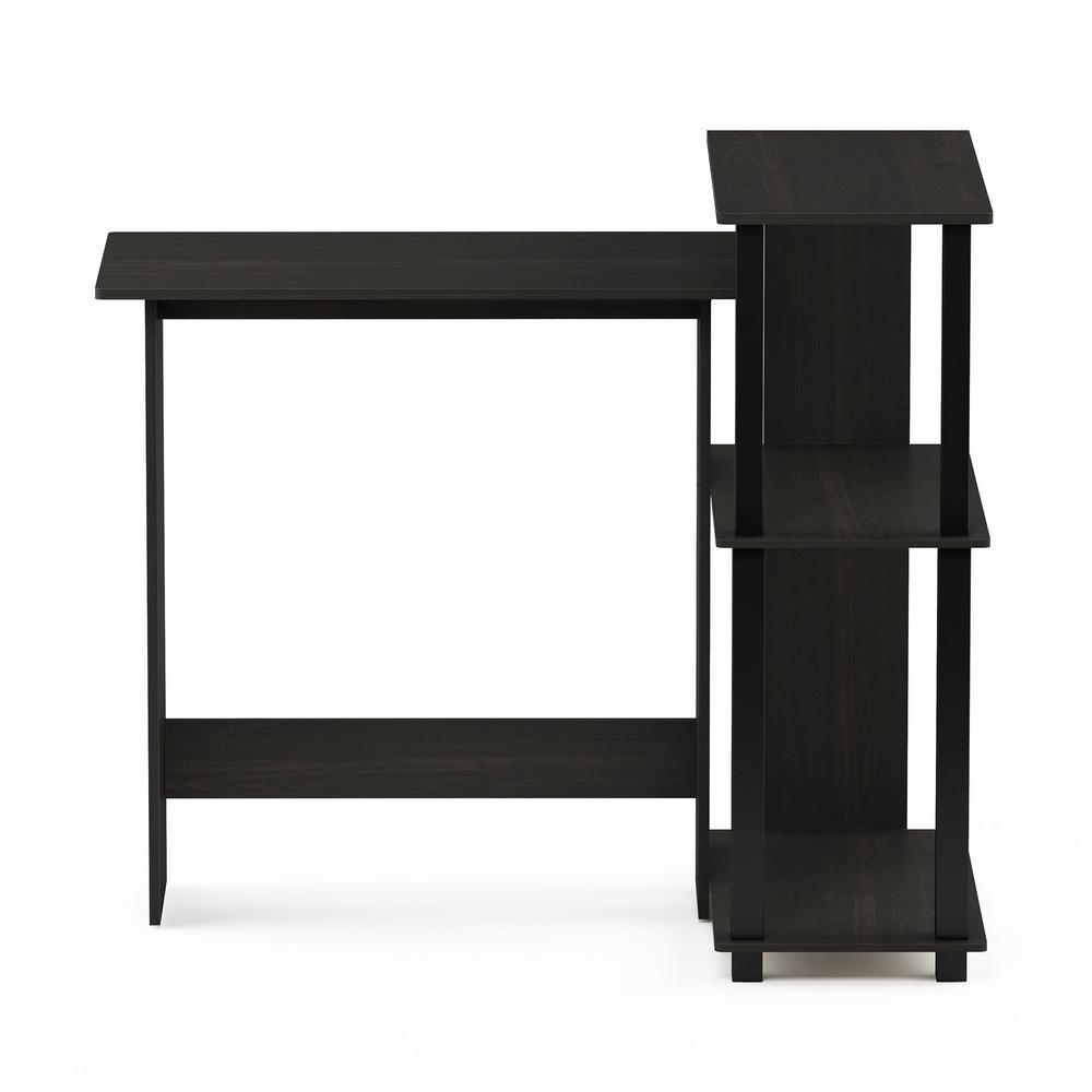 Abbott Espresso/Black Corner Computer Desk with Bookshelf