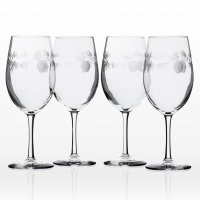 Icy Pine 18 oz. Clear All Purpose Wine (Set of 4)