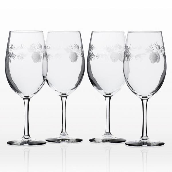 Rolf Glass Icy Pine 18 oz. Clear All Purpose Wine (Set of 4)