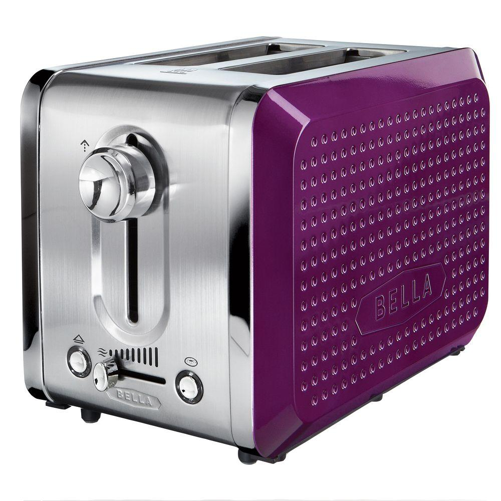 Bella Dots 2 Slice Toaster in Purple