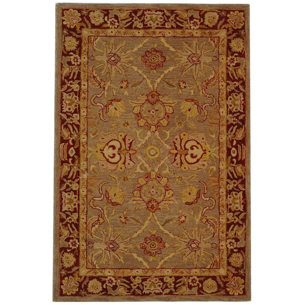 Anatolia Grey/Red 5 ft. x 8 ft. Area Rug