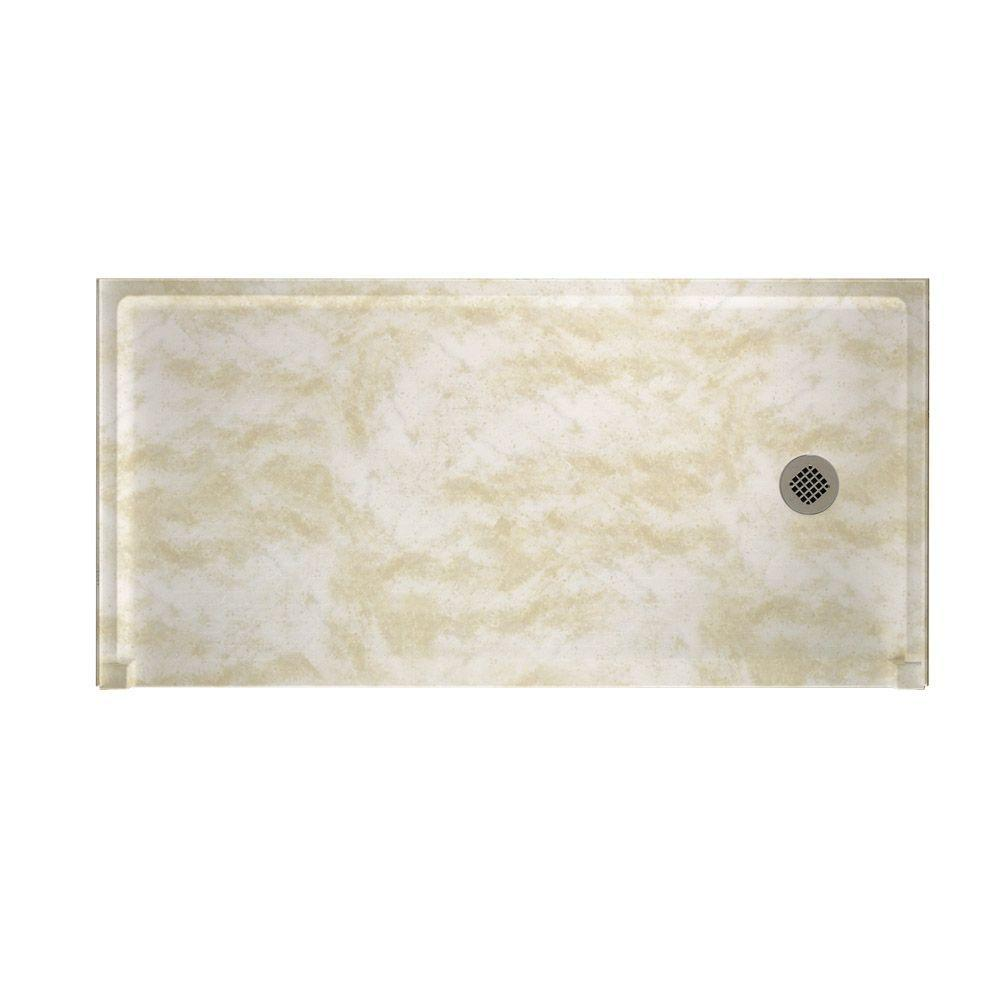 Swanstone Barrier Free 30 in. x 60 in. Single Threshold Shower Floor in Cloud White-DISCONTINUED