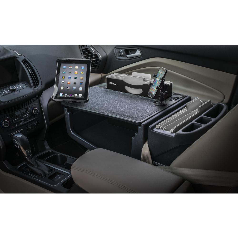 Tablet Mount and Printer Stand AutoExec Efficiency GripMaster Car Desk Green Camouflage with X-Grip Phone Mount