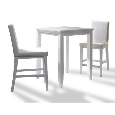 Linear White 3-Piece High Dining Set
