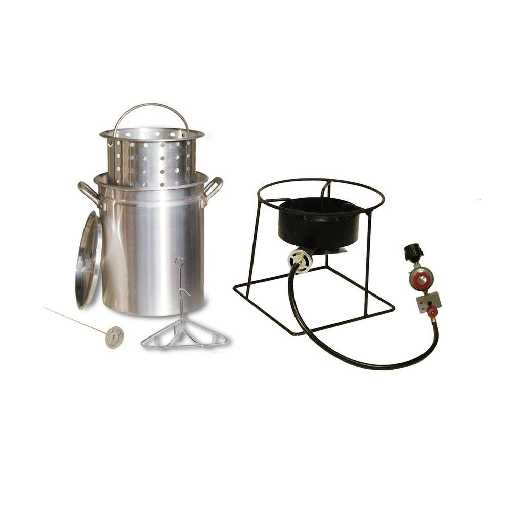 38,000 BTU Propane Gas Outdoor Turkey Fryer with 29 qt. Pot,
