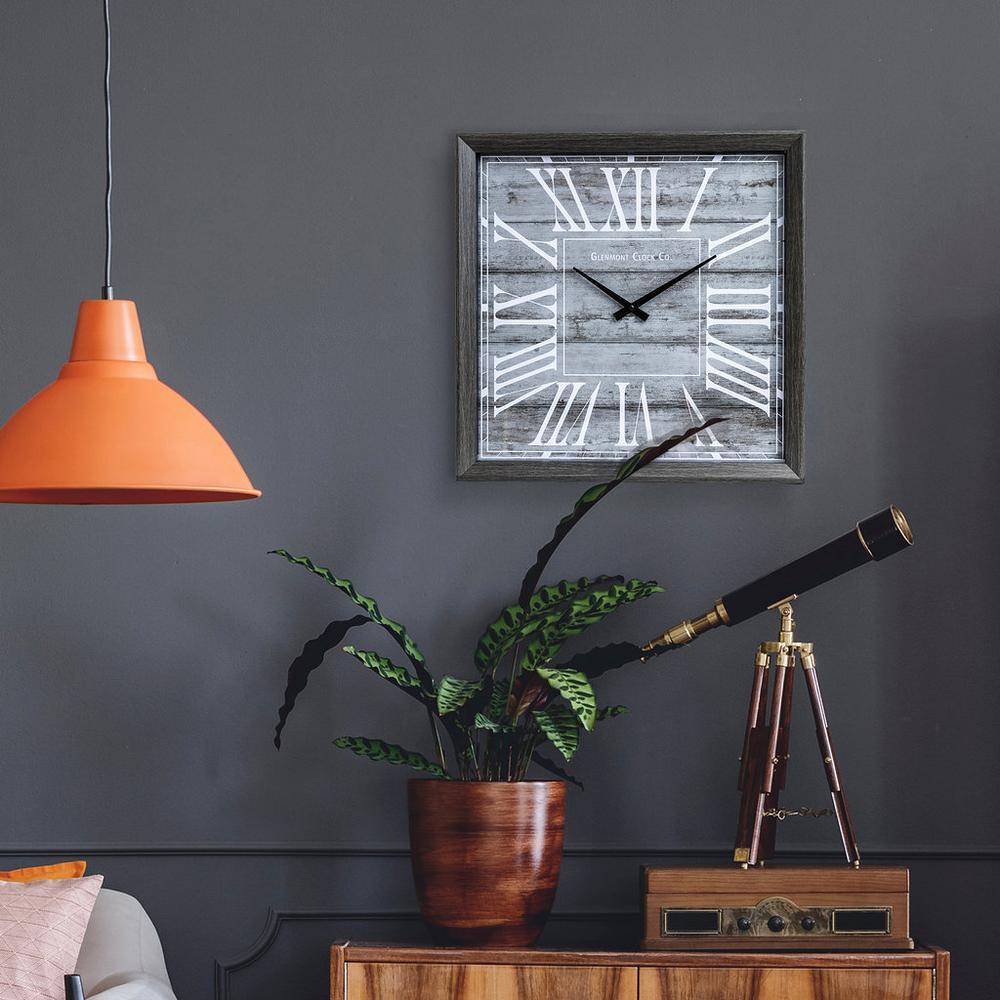 Rustic Greywash Wall Clock