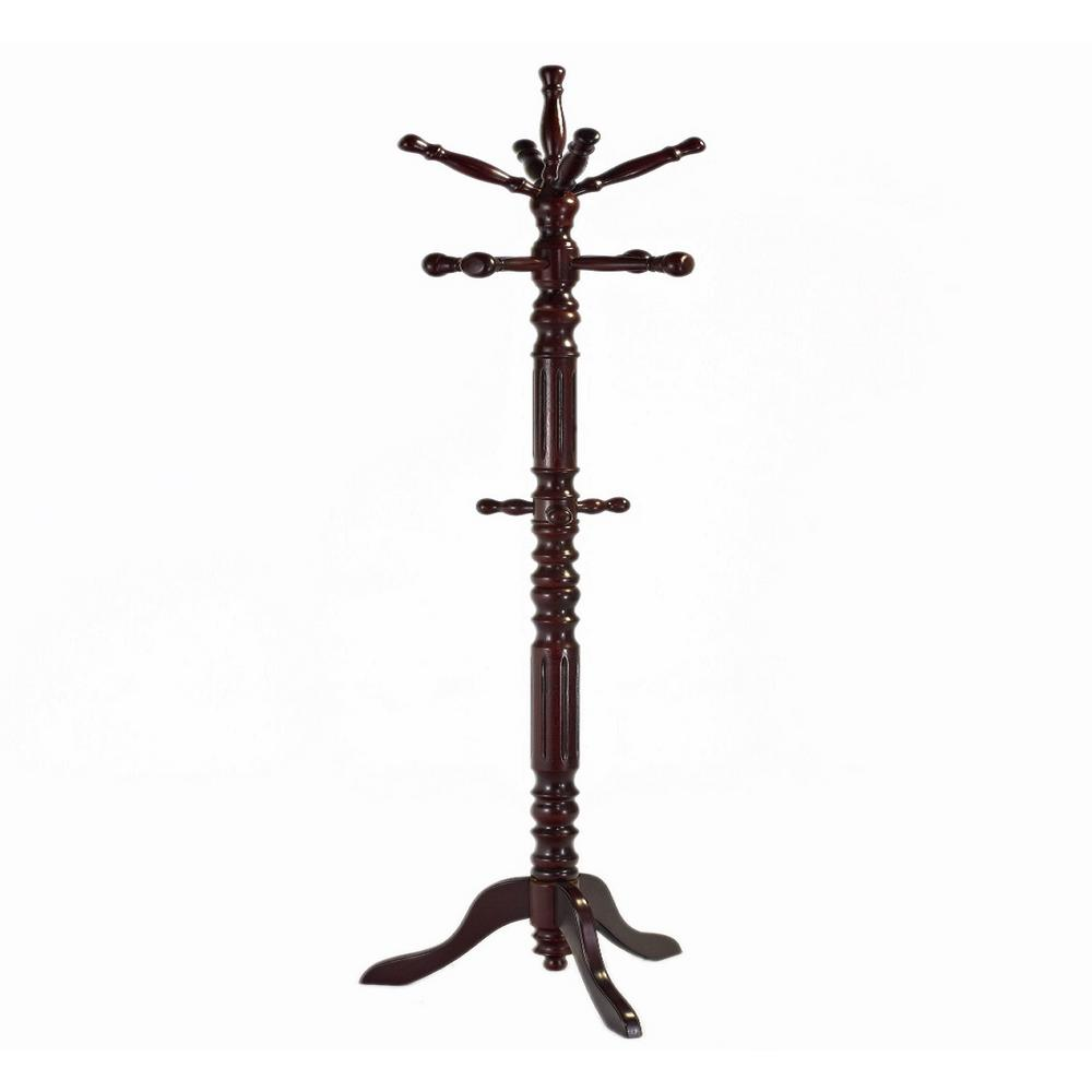 free standing coat rack Mahogany 12 Hooks Free Standing Coat Rack 10233023   The Home Depot free standing coat rack