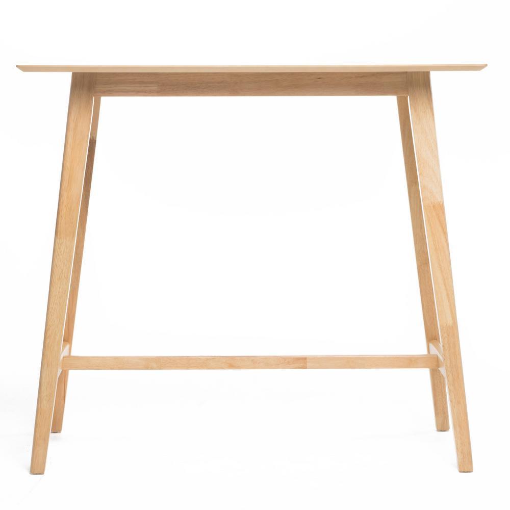 Walnut Brown Wood Bar Table