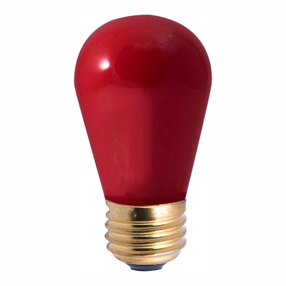 Home Depot Colored Light Bulbs: Bulbrite 11-Watt S14 Ceramic Red Dimmable Incandescent