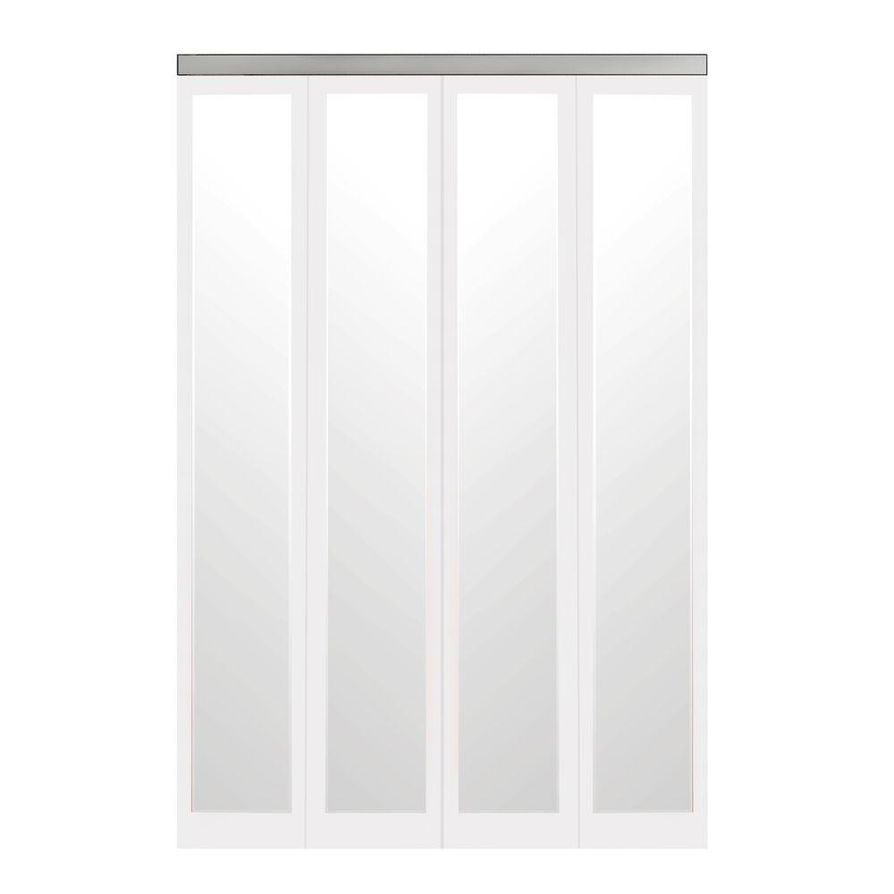 Impact Plus 54 in. x 96 in. Mir-Mel White Mirror Solid Co...